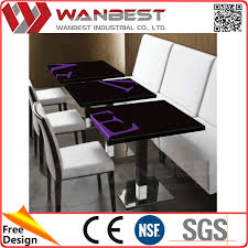 Black Stone Dining Table Top Man Made Stone Italian Marble Solid Surface Table Top For Office