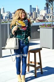how to wear a white and red and navy plaid scarf 10 looks
