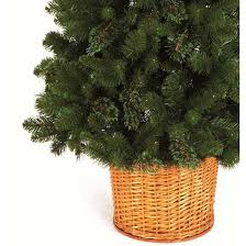 cheap 6 10ft pinewood basket artificial christmas tree on sale