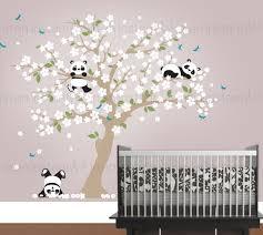 Stickers Arbre Pour Chambre Bebe by Sticker Mural Panda Pandas Ludiques à Cherry Blossom Arbre