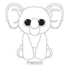 beanie boos coloring pages getcoloringpages com