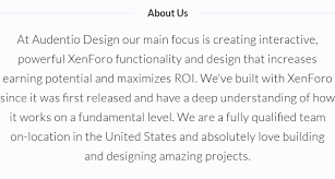 custom add ons and themes audentio design xenforo community