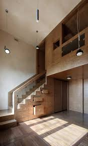 Apartment Stairs Design Spacious Multilevel Apartment Interior With Awesome Storage Stairs