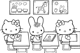 printable hello kitty coloring pages for kids valentine bad sheets