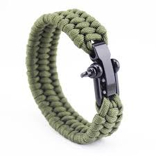 paracord braided bracelet images Triple braided stainless steel paracord bracelets 5 variants jpg