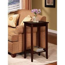 Dhp Rosewood Tall Small Space Square End Table Coffee Brown