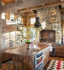 Red Kitchen Backsplash by Wooden Ceiling Rustic Country Kitchen Backsplash Ideas Old Red