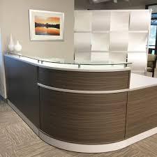 Knoll Reff Reception Desk The Esquire Reception Desk Artfully Combines A Rustic Driftwood