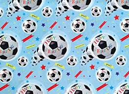 football wrapping paper simon elvin football wrapping paper 2 sheets of gift wrap 1