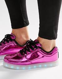 light up sole shoes wize ope wize ope pop pink light up sole trainers