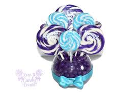 Lollipop Topiary Small Purple And Turquoise Lollipop Centerpiece Purple And