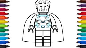 how to draw lego superman coloring pages youtube