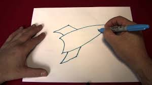 doodling drawing a rocket ship youtube