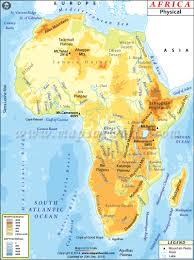 africa physical map physical map of africa