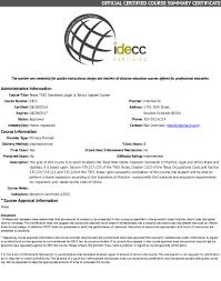 distance education courses certified by arello and idecc internachi