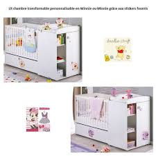 chambre bebe complete evolutive disney baby lit combiné evolutif bébé personnalisable winnie minnie