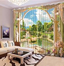 Nice Curtains For Living Room Online Get Cheap Window Curtains 3d Designs Aliexpress Com