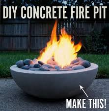 Ll Bean Fire Pit - how to make a diy modern concrete fire pit from scratch man