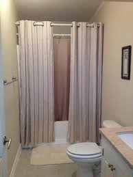 idea bathroom with show brown tiles wall themes rectangle white