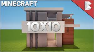 minecraft 10x10 modern house tutorial easy to follow
