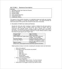 child care business plan template daycare business plan template 9
