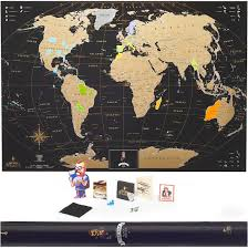 Scratch Off Map Mymap Scratch Off Travel Map Black Gold Don U0027t Forget Your