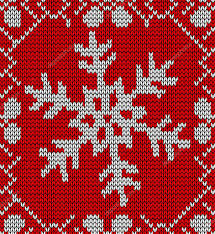 christmas snowflake knitting pattern u2014 stock vector cienpies