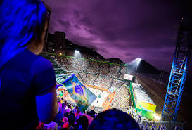 The Flag Of Brazil Volleyball Beach Is Where To Find Olympic Midnight Madness