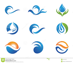 water droplet logo template stock vector image 64789682