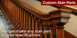 stair parts wood railings balusters newels stairs