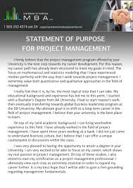 Internship Letter Of Intent by Writing Mba Statement Of Purpose For Project Management