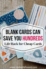 hack for cheap cards how blank cards can save you hundreds