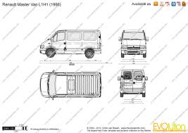 renault master 2001 the blueprints com vector drawing renault master van l1h1