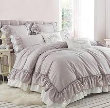 light grey bed skirt light grey double bed princess ruffle brief quality luxury bedding