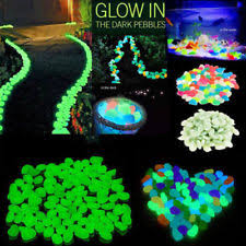 glow in the pebbles glow in the pebble decorative garden stepping stones ebay
