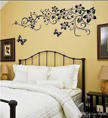 Black Butterflies Wall Stickers Flowers Art Home Decor Wall Decals - Home decor wall art stickers