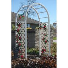 wedding arches home depot dura trel 90 in x 54 in x 28 in white vinyl pvc somerset arbor