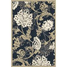 Outdoor Blue Rug by Hampton Bay Structure Floral Blue 7 Ft 5 In X 10 Ft 8 In