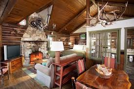 Log Home Decorating Tips Impressive Small Log Cabin Decorating Ideas Using Grey Velvet