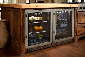 furniture exciting twin sub zero wine cooler with dark pergo