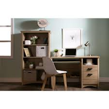 Oak Desk With Hutch South Shore Gascony Rustic Oak Desk 9064070 The Home Depot