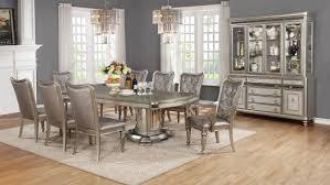 bling game metallic platinum 9 pcs dining table set