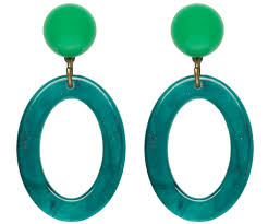 drop hoop earrings luxulite green oval drop hoop earrings sourpuss clothing