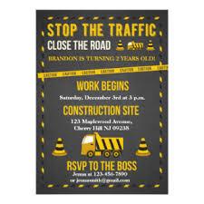 construction birthday invitations u0026 announcements zazzle