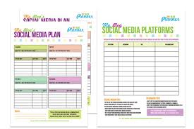 social media planner free printable social media planners from a well crafted party