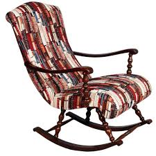 Rocking Chair Chicago Early 20th C Liberty Style Rocking Chair Turned Walnut Restored