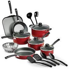 home pans amazon com 18 piece nonstick pots pans cookware set kitchen