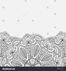 Mehndi Cards Henna Mehndi Card Template Mehndi Invitation Stock Vector