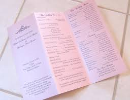 tri fold program scrapping innovations kyonztè and deangelo tri fold wedding programs