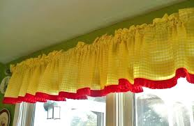 yellow kitchen curtains valances medium size of yellow kitchen